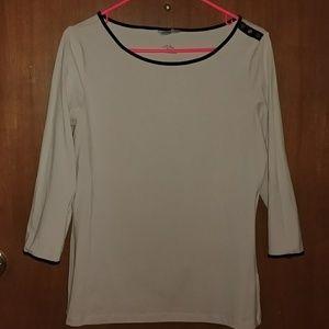 H&M Tan Shirt w/ 3/4 Length Sleeves